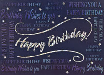 Multiple Wishes Happy Birthday Cards